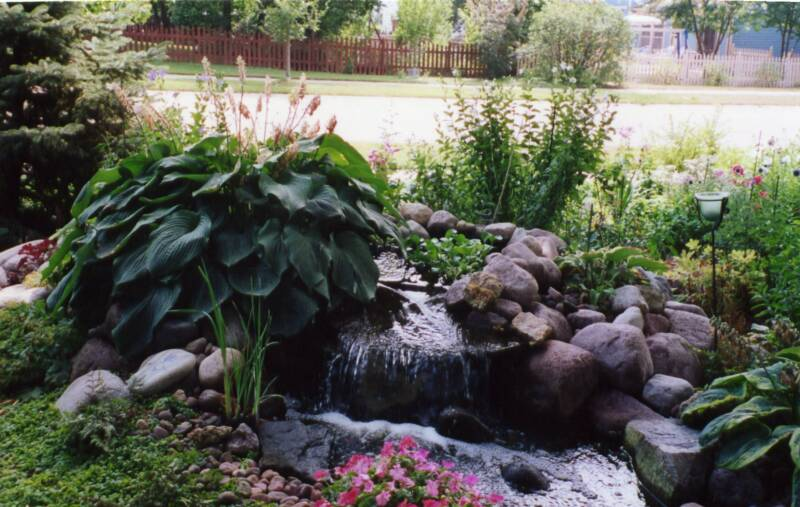"Waterfalls and ""pondless"" Water Features -Traditional Koi and Goldfish Ponds"